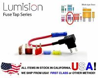 NEW Car Add A Circuit Standard Blade Style ATM Mini Fuse Tap Holder + Fuse set