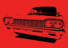 1963 Chevrolet Impala Art Print or Greeting Card Set