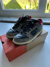Nike Dunk Low Supreme 2002 US9 42.5 Black Red Cement
