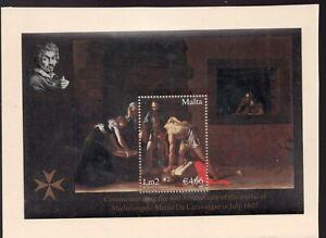 Sc #1297 Souvenir Sheet - Malta - Artist Caravaggio - 2007 - MNH - Superfleas