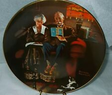"""Norman Rockwell """"Evening Ease"""" Fine China Collector Plate #7399 Certified"""