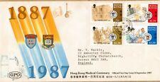 Hong Kong:1987:Hong Kong Medical Centenary,Set on FDC.
