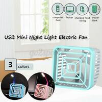USB Mini Desk Fan Cooler USB Powered Portable Quiet Office Home Fans With