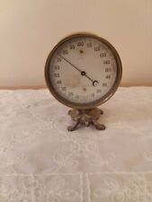 Antique Brass Standard Thermometer Patented in 1800's Peabody, Mass. Turtle base