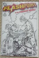 DC Comics Flashpoint #5, Andy Kubert Sketch Variant Cover