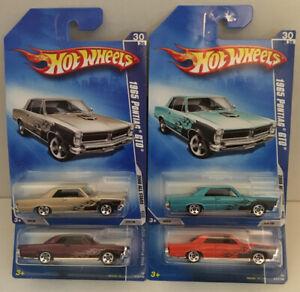 Hotwheels 2008 All Stars 1965 Pontiac GTO 4 Car Color Variations