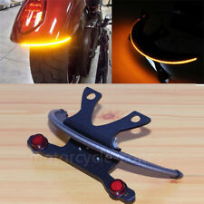 LED Fender Amber Smoked Lens Tail Light Bracket For Victory Vegas 2003-2017