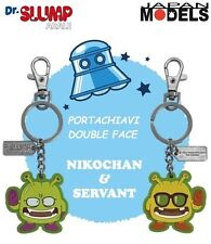 Portachiavi Keychain DR.SLUMP E ARALE NIKOCHAN E SERVANT Reversible Two Sided