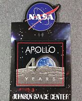 NASA APOLLO 40 YEARS PATCH Official Authentic SPACE 3.5in Made in USA si
