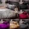 Luxury Plush Crushed Velvet Duvet Set Single Double King Bedding Set Pillowcase