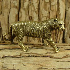 Solid Brass Tiger Figurine Statue Decoration Ornament Wild Animals Figurines
