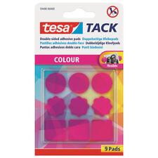 9 tesa Tack Klebepads pink / transparent, doppelseitig, wiederverwendbar NEU&OVP