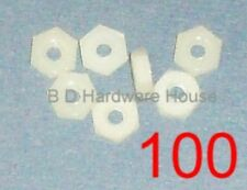 100 - Nuts - Nylon Plastic 6/32 Hex Nut for Standoffs, Screws, Spacers