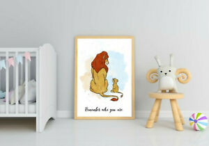 The lion king Simba and Mufasa remember who you are wall art bedroom print