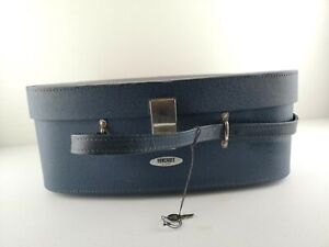 Vintage Foxcroft By Antler Navy Hand Luggage Suit Case Weekender Travel Bag