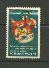 Austria POSTKRAFTWAGEN poster stamp/label (Fox)