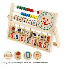 Wooden Kids Educational Toy Abacus Counting Number Frame Learning Maths Wooden