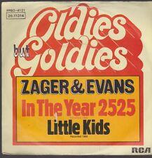 "7"" Zager & Evans In The Année 2525 / Little Enfants RCA (Oldie)"