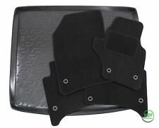 PORSCHE CAYENNE 955 2002-2010 Tailored black floor car mats + boot tray mat