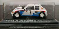 1/43 PEUGEOT 205 TURBO 16 RALLYE MONTECARLO 1985 A. VATANEN IXO ALTAYA ESCALA
