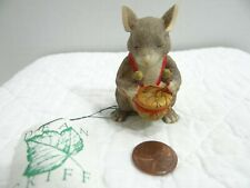 Charming Tails Silvestri Lil Drummer Mouse Figurine 87480 Christmas Acorn Drum