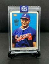 ANDRUW JONES 2020 Topps Archives Signature Series Retired Auto /35 2002 T206
