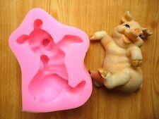 3D Cute Pig Silicone Fondant Chocolate Sugarcraft Clay Mold Baking Tool DIY