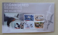 2014 NEW ZEALAND ENDANGERED SEABIRDS 5 STAMPS MINI SHEET FDC FIRST DAY COVER