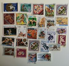 25 Different Wrestling Stamps Collection