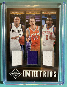 2011-12 NBA Panini Limited Trios NASH MARION STOUDEMIRE JERSEY PATCH 17/49 HOF