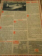 Avion F-PEPF un petit oiseau qui deviendra grand Doc/Clipping 1957