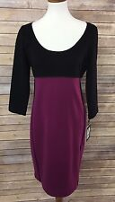 Narciso Rodriguez For Design Nation Medium Mulberry Black Sheath Dress Stretchy