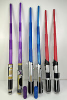 Lot Of 6 Star Wars Hasbro LFL Toy Lightsabers Blade Builder Connectors Authentic