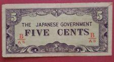 Japanese Invasion Money 5 cents