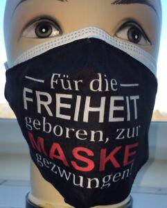 1 x FFP2 Maske CE0598 +1 x Stoffmaske waschbar für die Freiheit geboren