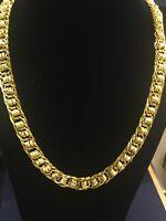 Classy Handgemacht Dubai Herren Kette Halskette In 916 Gestempelt 22K Gelbgold