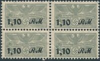Stamp Germany Revenue Block WWII 3rd Reich Occupation Work Due 110 MNH