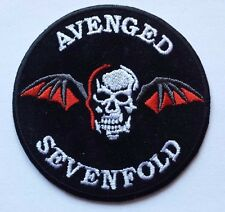 AVENGED SEVENFOLD Embroidered Rock Band Iron On or Sew On Patch Patches