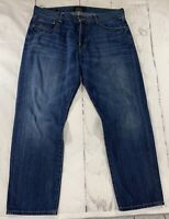 Lucky Brand Size 38-30 221 Original Straight Men's Jeans 100% Cotton