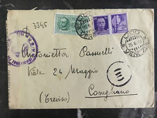 1943 Venice Italy Censored Cover To Treviso