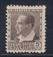 ESPAÑA (1933/35) NUEVO SIN FIJASELLOS MNH SPAIN - EDIFIL 681 (5 cts) LOTE 2