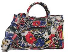 64837047a404 New Balenciaga Small Classic AJ City Arena Leather Floral Beige Messenger  Bag
