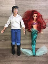 "Disney Store Ariel  Eric The Little Mermaid Classic Princess Doll 12"" Barbie"