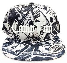 COMPTON WITH GUN LOGO Dollar Bill Snapback Cap Hat Adjustable one size