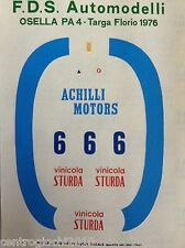 DECALS KIT 1/43 OSELLA PA4 TARGA FLORIO 1976