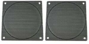 120mm Black Computer Case Fan Mesh Grill / Guard / Filter -Small Hole (Set of 2)