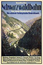 Badische selva negra tren gebirgsbahn Constanza abiertamente castillo de Constanza carteles a3 263