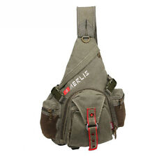 Men Canvas Messenger Shoulder Bag Travel Hiking Cross Body Sling Back Chest Pack