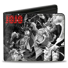 Jojo's Bizarre Adventures Bifold Black and White Group Buckle Down Wallet