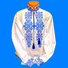 Tradition Ukrainian Embroidered Shirt men National Cross stitch size XS-XXXXL